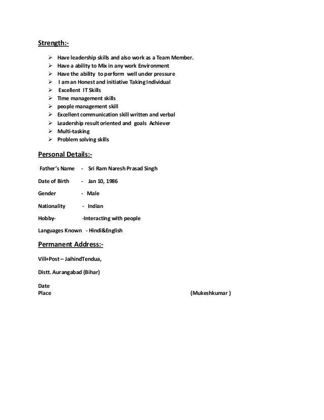Resume Strengths Image collections - resume format examples 2018 - resume strength words