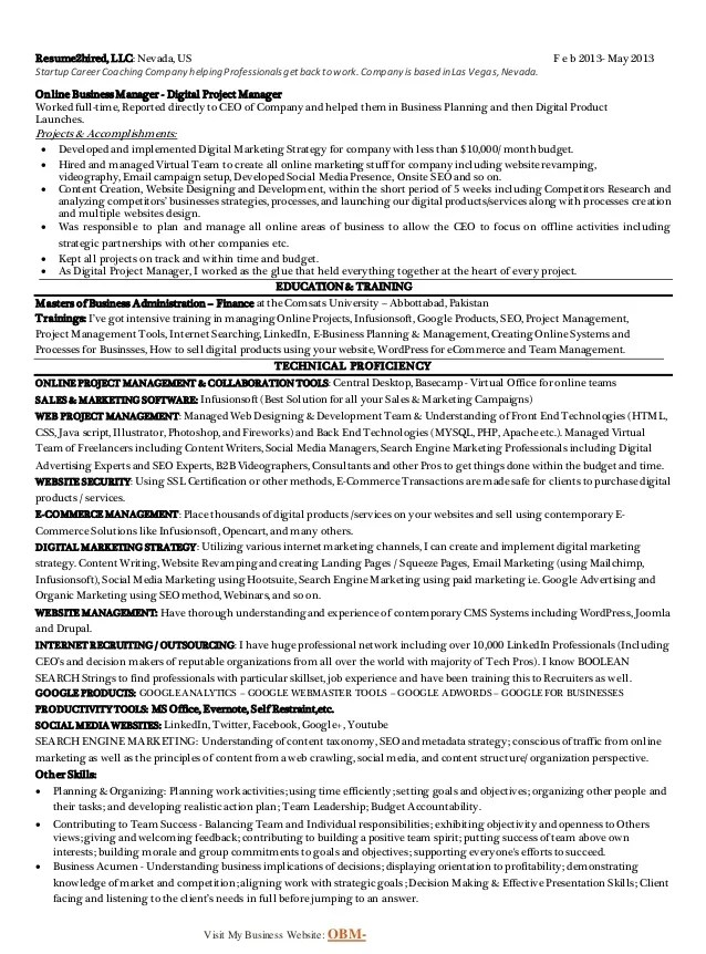 digital advertising resume - Ozilalmanoof