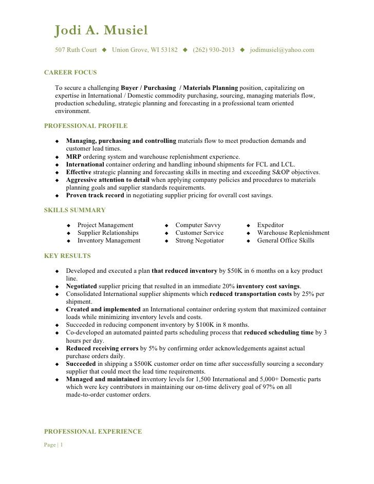 media buyer resume