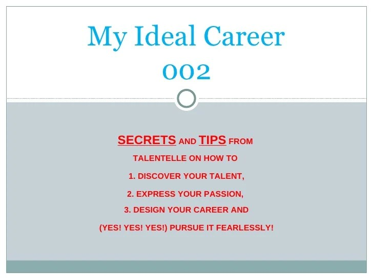 what is my ideal job