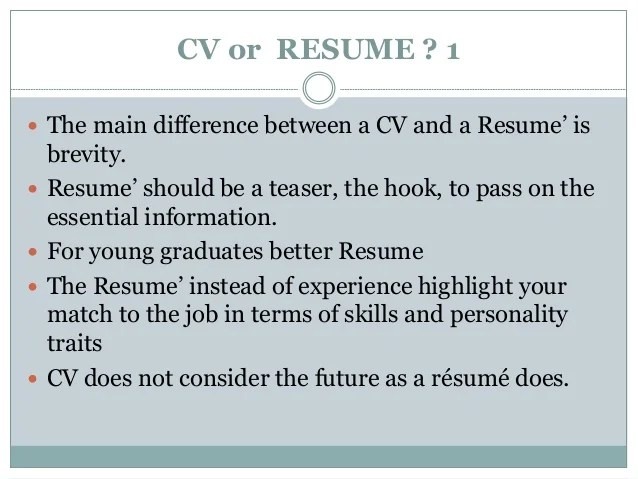 difference between a resume and curriculum vitae - Akbagreenw - cv vs resume the differences