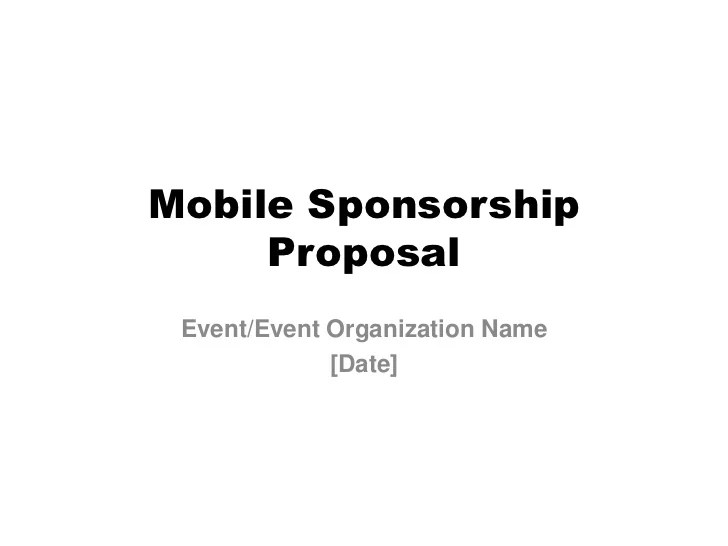 sponsorship proposal template for events - Maggilocustdesign