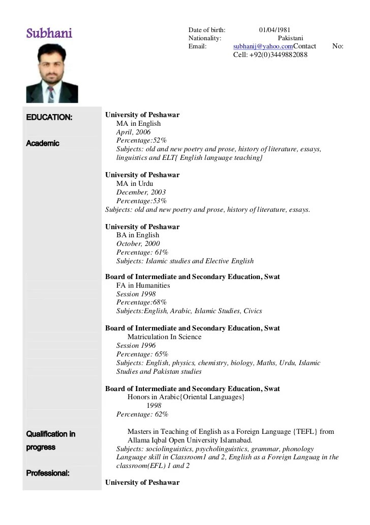 cv for teaching sample education cv examples cv templates primary cv for teaching sample education cv examples cv templates primary - Resume In English