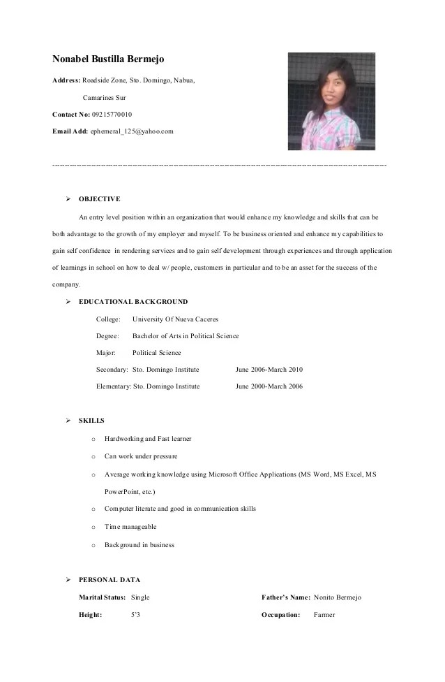 google resume template to add picture