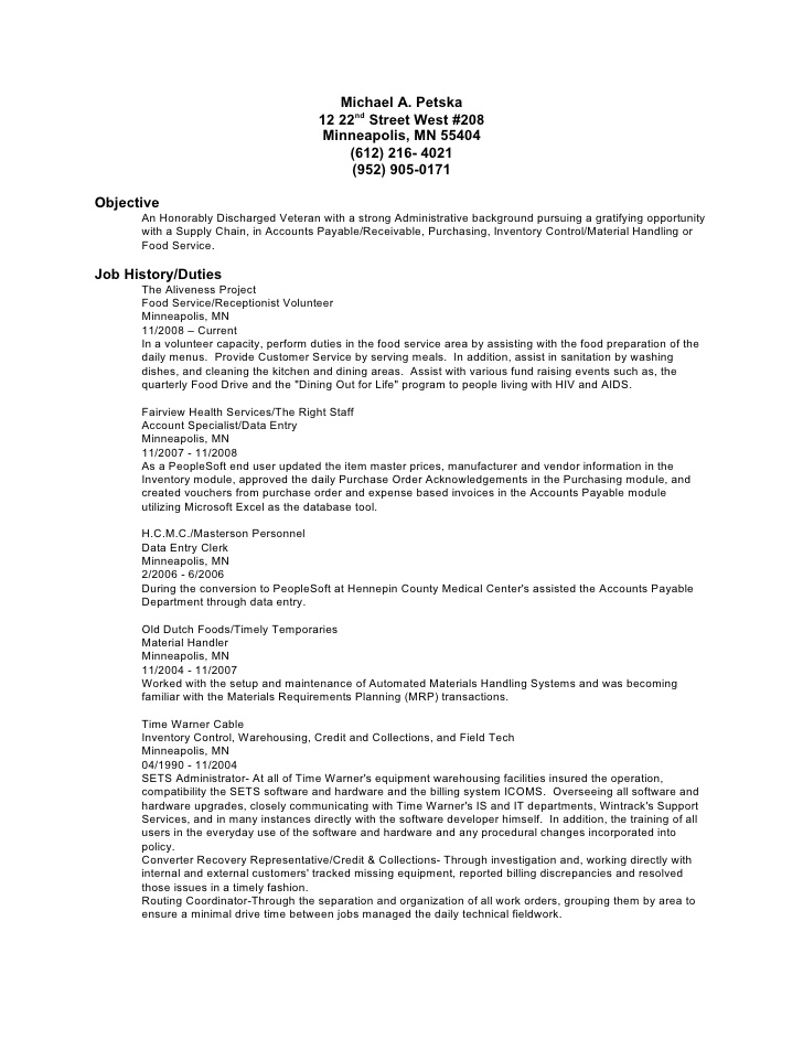job description material handler