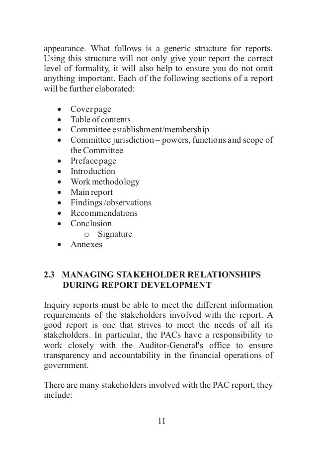 Attractive Committee Report Template Model - Resume Ideas - bayaarinfo