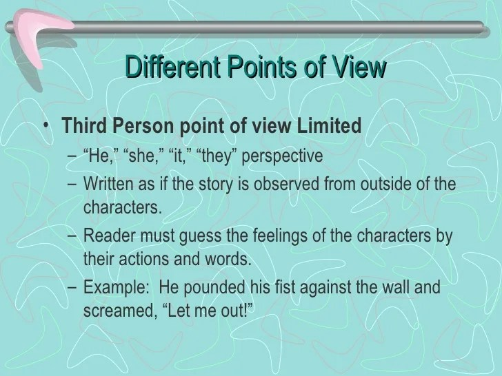 How To Write In A Third Person Point Of View