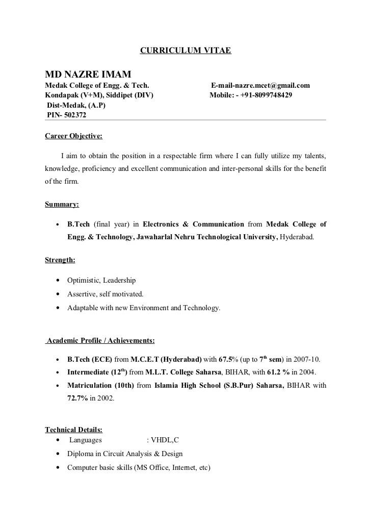 sample ece resumes - Goalgoodwinmetals