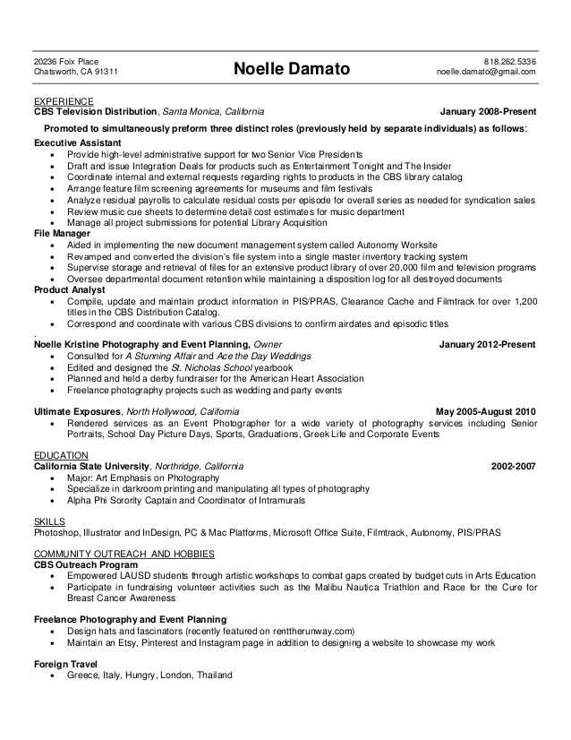 resume learning experience
