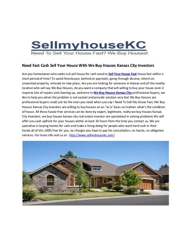 Need fast cash_sell_your_house_with_we_buy_houses_kansas_city_investor