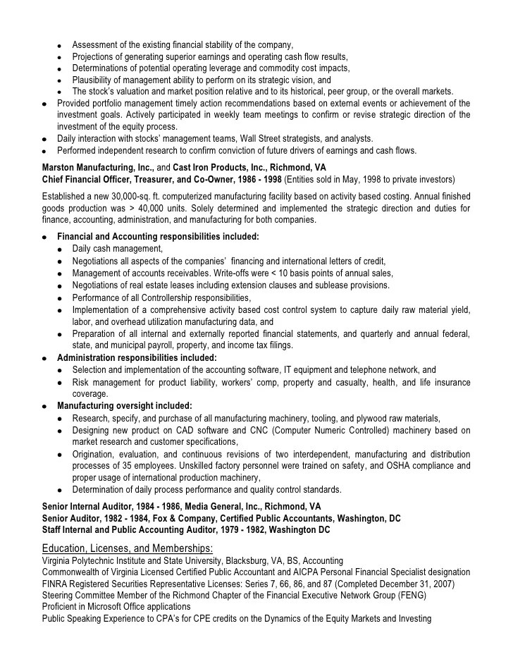 cpa auditor resume - Goalgoodwinmetals