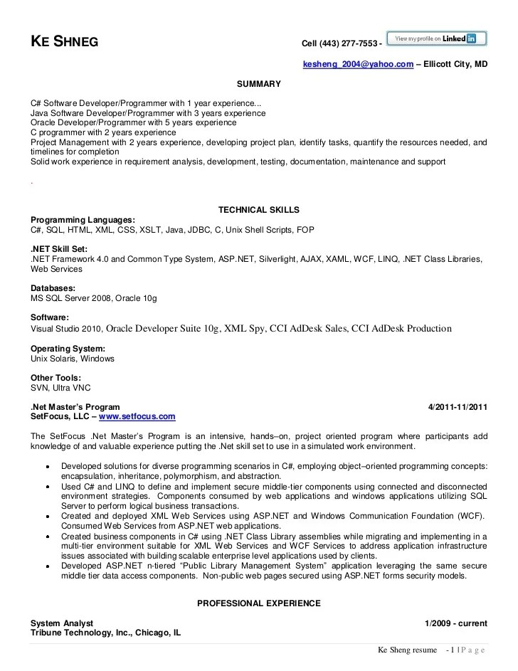 programmer resume format and examples - Akbagreenw