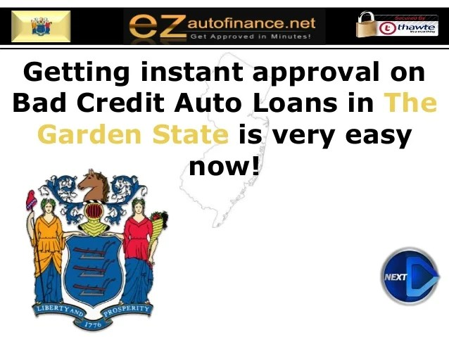 New Jersey Auto Financing - Secure Guaranteed Approval on Bad Credit