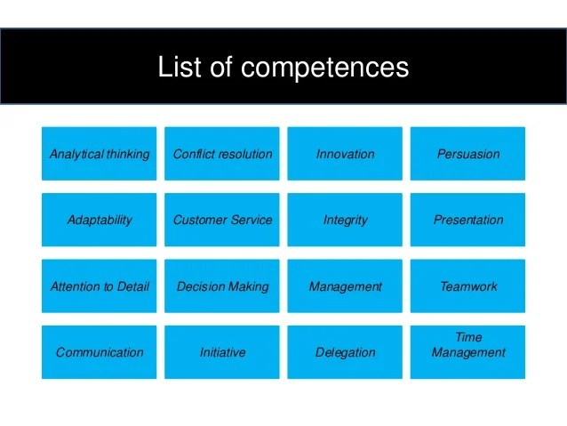 core competencies resume summary