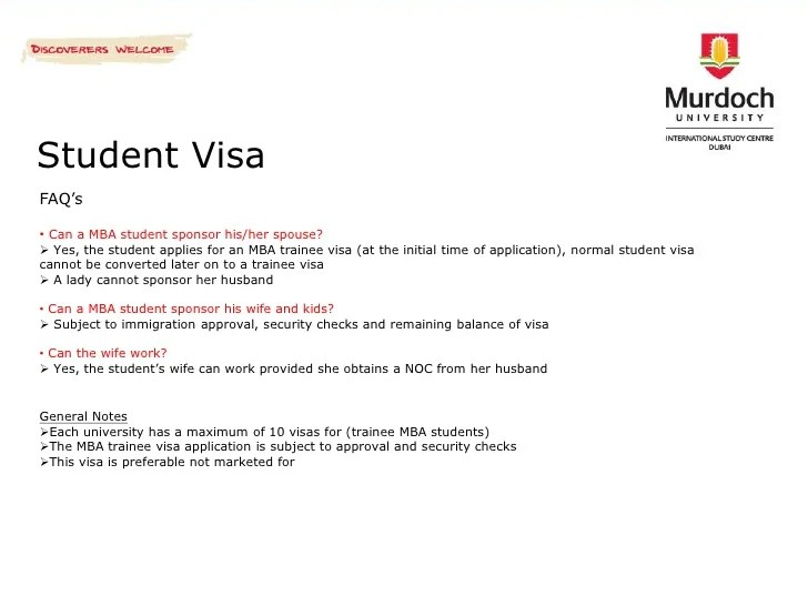 Sponsor Support Letter Fiance Visa Application Murdoch University International Study Centre Dubai