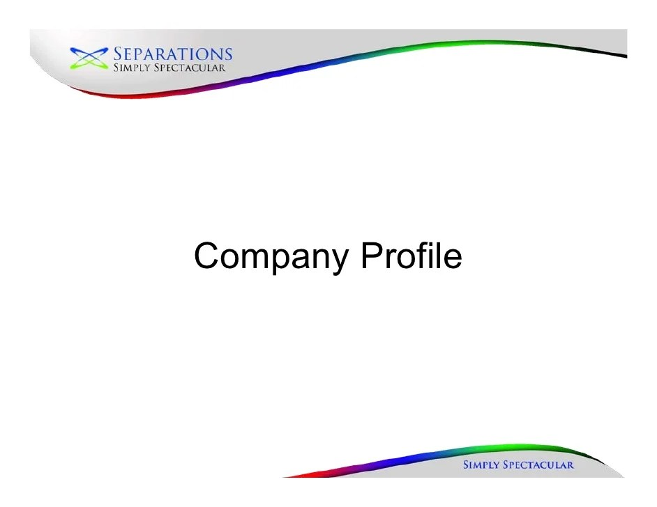 Sample Business Profile 5 Documents In Pdf New Company Profileaugust 2010
