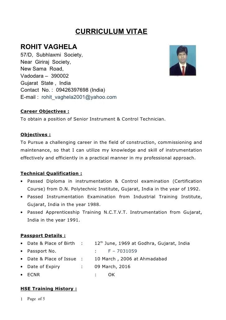 technician resume format - Onwebioinnovate - technician resume format