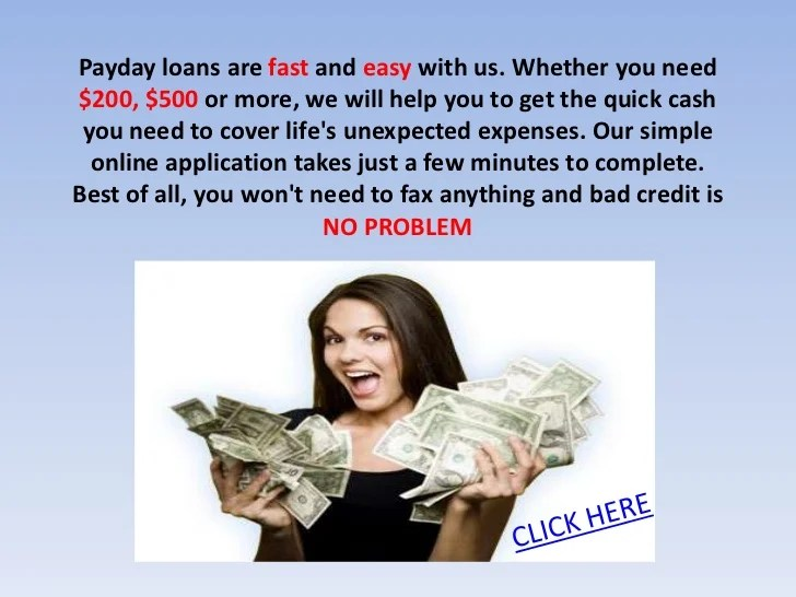 New payday lenders no credit check