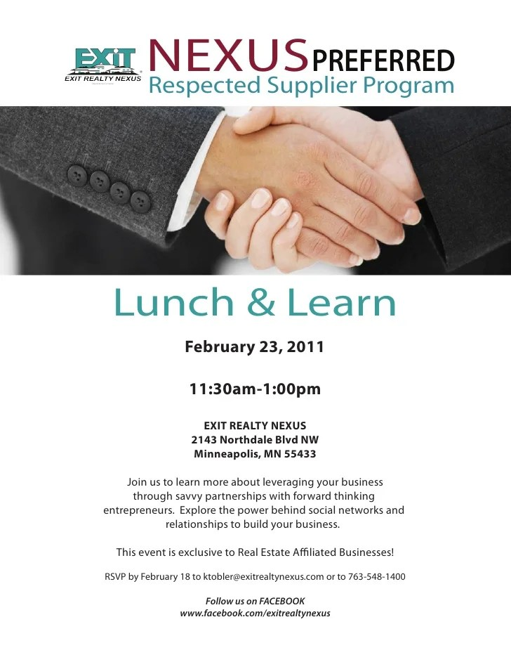 lunch and learn invitations - Towerssconstruction