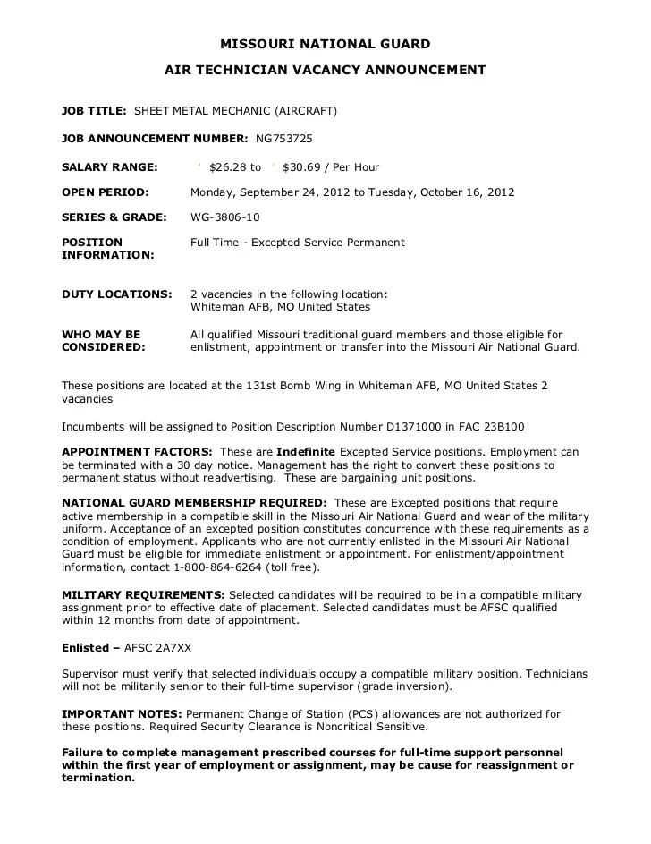 Mechanic Resume Examples Catalog Best Sample Resume Ng753725 Sheet Metal Mechanic Aircraft 2 Vacancies