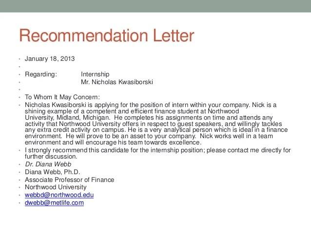 Sample Student Reference Letter The Balance Nick Kwas Portfolio