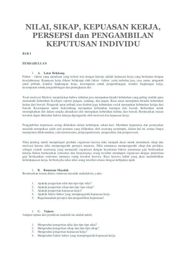 Contoh Skripsi Sistem Pengambilan Keputusan Contoh Skripsi Sistem Pendukung Keputusan Spk Jurusan Nilai Sikap Kepuasan Kerja Persepsi Dan Pengambilan Keputusan