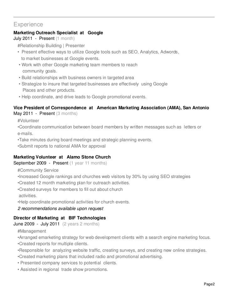 community outreach specialist sample resume node2003-cvresume
