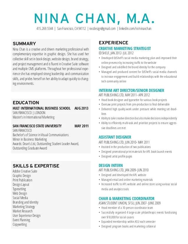 good resume examples linkedin