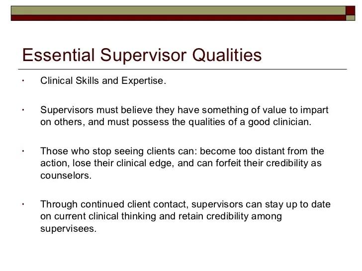 good supervisor traits - Selol-ink