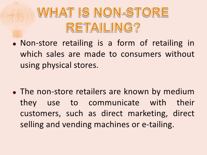 Non Store Based Retailing Final