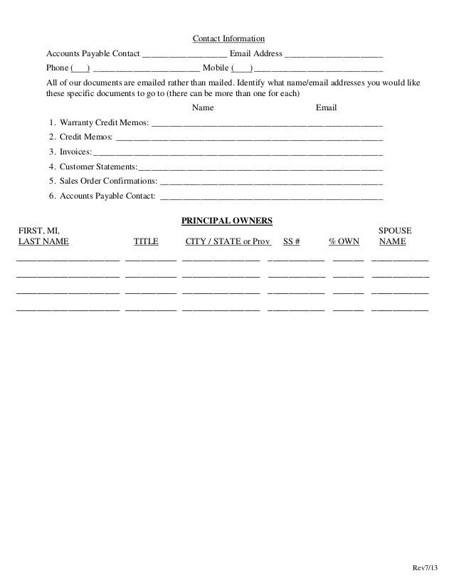 customer credit application template - Minimfagency - application for credit template