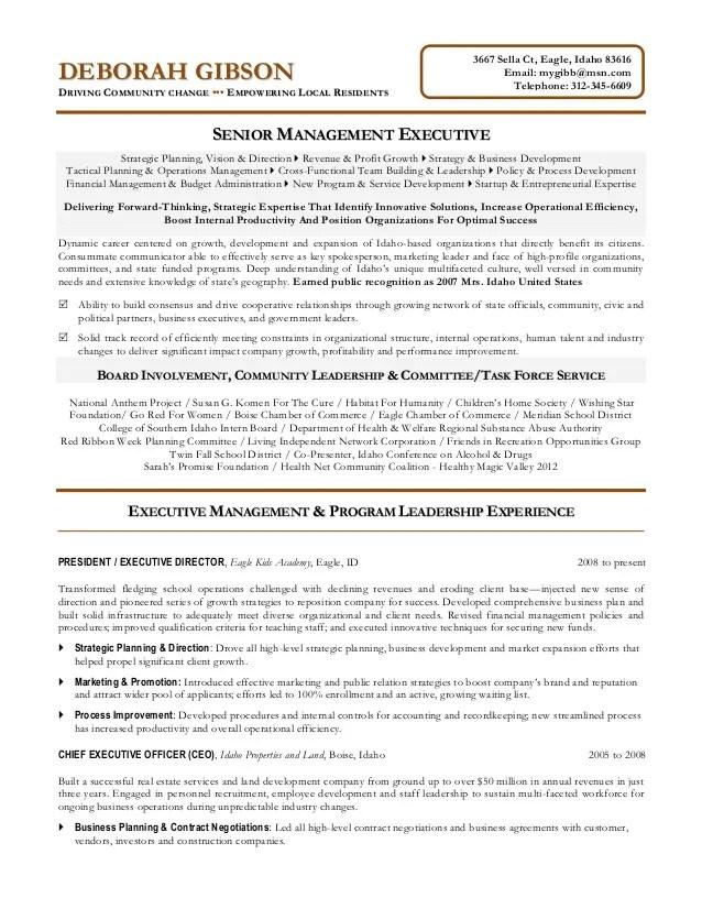nonprofit resume examples - Josemulinohouse - ceo resumes