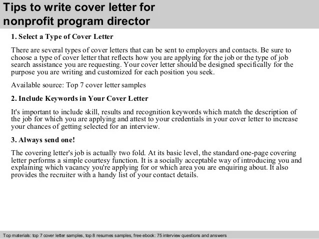 cover letter for nonprofit - Ozilalmanoof
