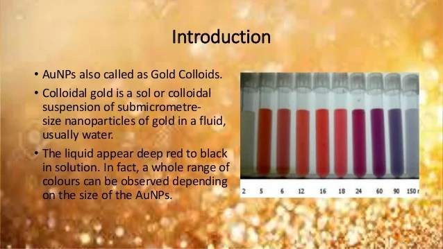 Suspension Molecular Gold Nanoparticles