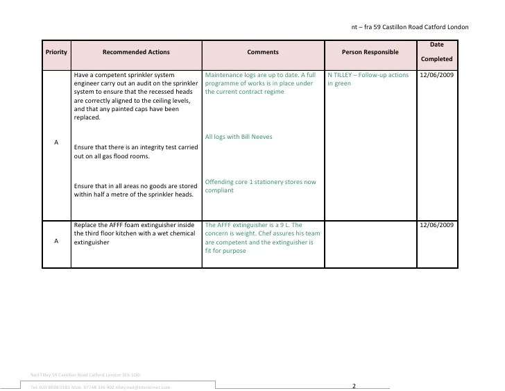 Maintenance Risk Assessment Template. ramscapes health and safety ...