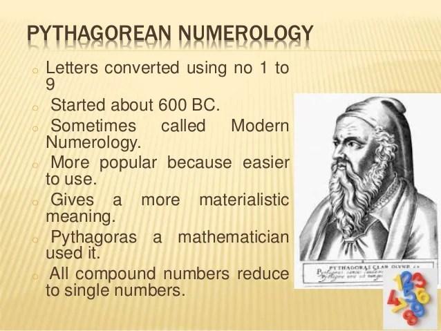 Pythagoras Calculation of Numerology Life Profile P1 Numerology