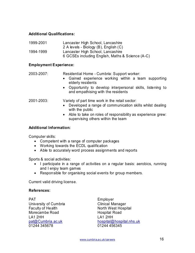 Student Cv Template. No Work Experience Executive Assistant Resume