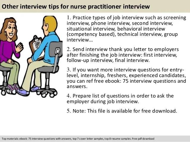 Thank You Letter For Job Interview Nurse Practitioner Sample