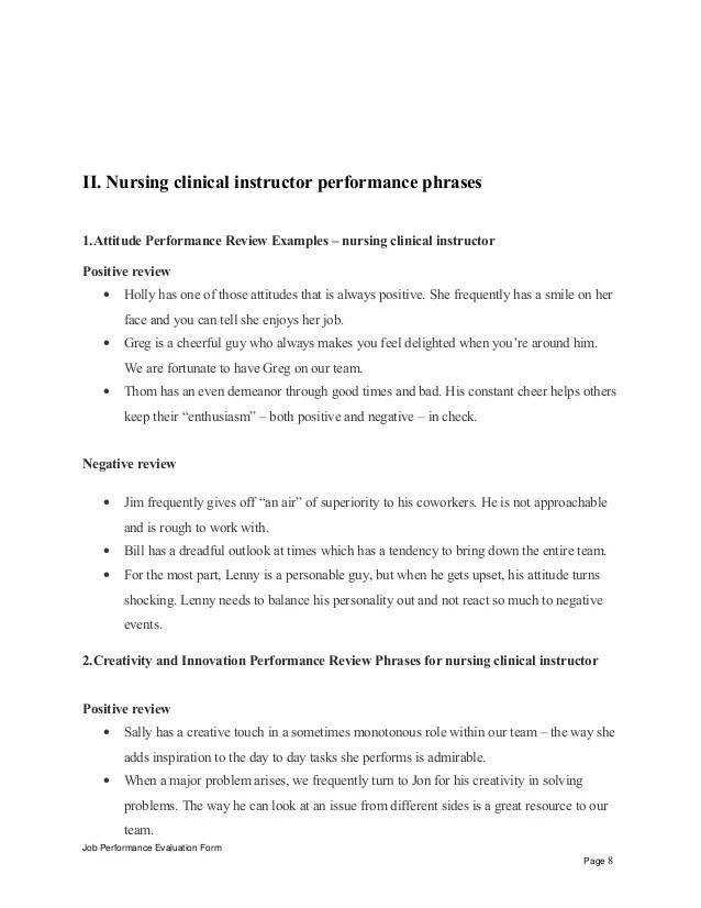 Nurse Job Description Targetjobs Nursing Clinical Instructor Performance Appraisal