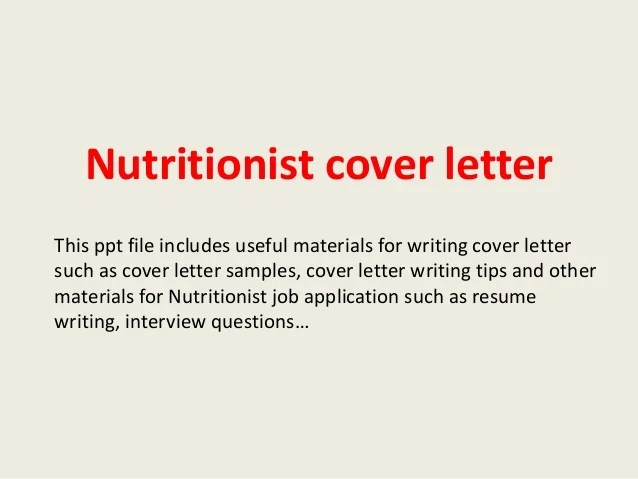 clinical dietitian cover letter - Apmayssconstruction