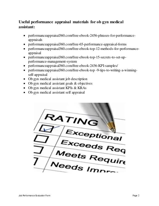 medical assistant ob gyn job description - Baskanidai