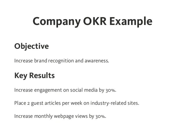 Examples Of Resume Objectives Examples Of Resume Objectives Yourdictionary Okr Objectives And Key Results Effective Goal Setting