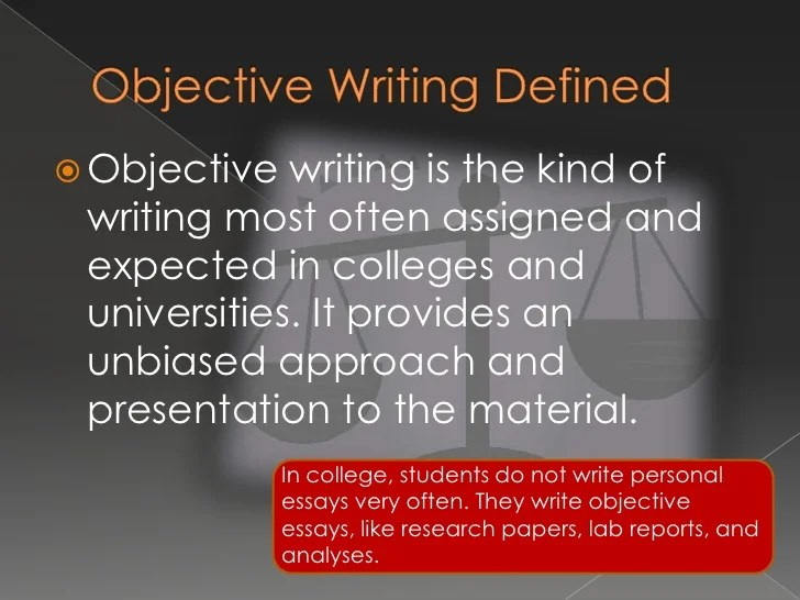writing an objective - Forteeuforic