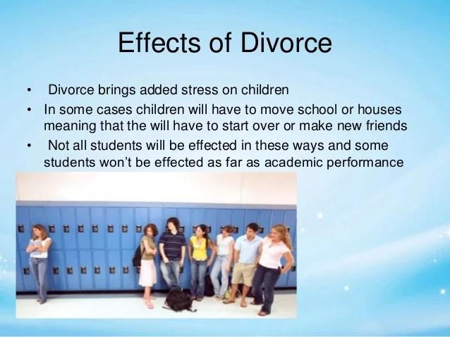 divorce effects on children