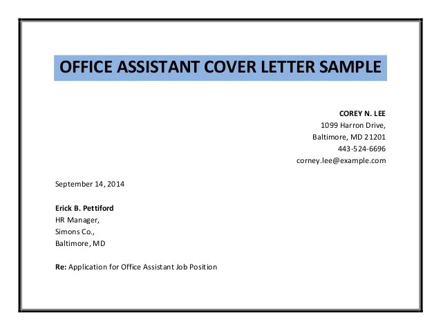 Job Application Cover Letter Personal Assistant | Research