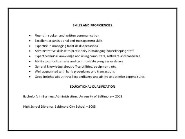utilities resume sample