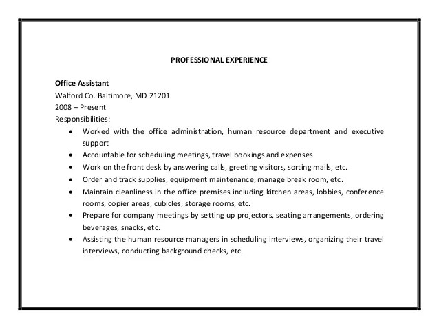 resume for medical office assistant professional resumes sample