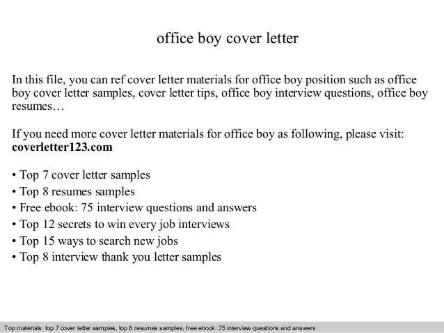 sample office boy cv