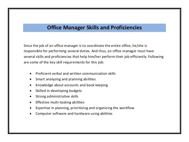 office skills on resume - Jolivibramusic - job skills on resume