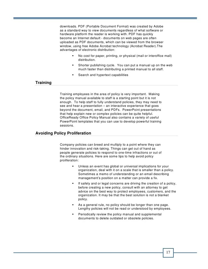 policy and procedure template office manual template free minimfagency